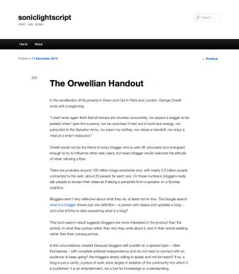 The Orwellian Handout