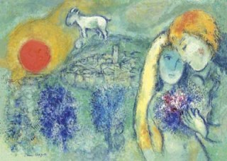 Chagall-Lovers of Vence 1957